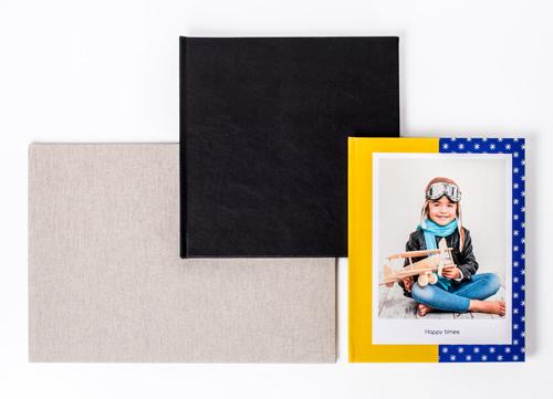 Fotoböckerna finns i tre olika format: