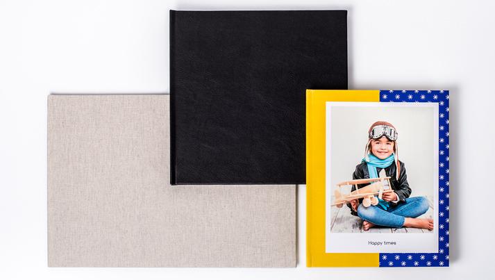 Photobooks in orientation landscape, portrait or square
