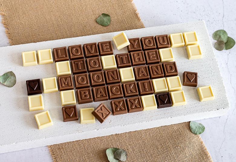 Wenn die Schokolade als Botschaft kommt