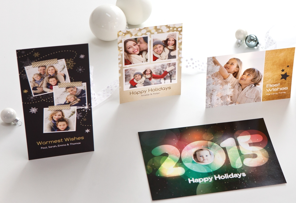 Neue weihnachtliche Designs bei Grusskarten