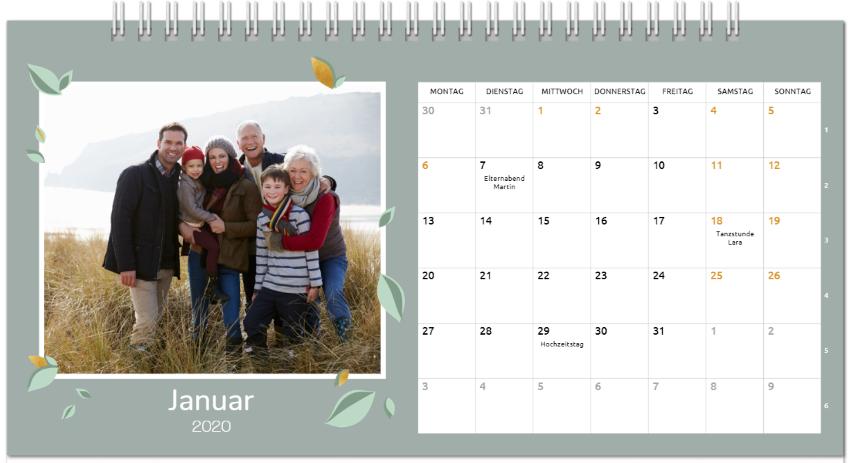 smartphoto: Neu im Bereich Fotokalender