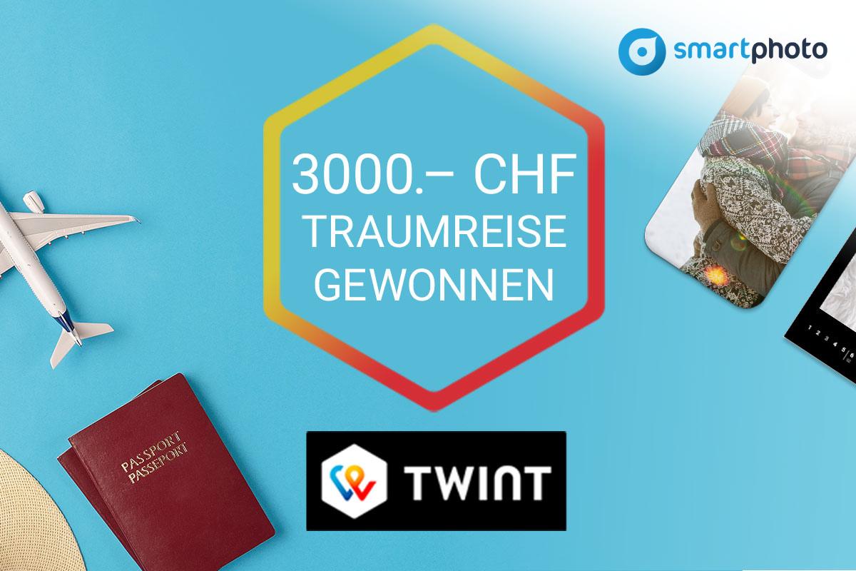smartphoto + TWINT Gewinnspiel: Traumreise gewonnen