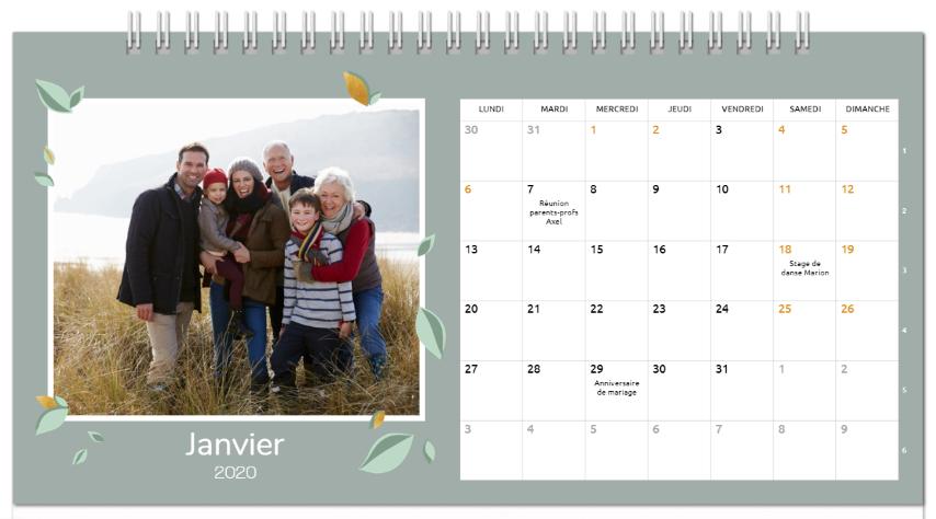 smartphoto: du nouveau du côté des calendriers photo