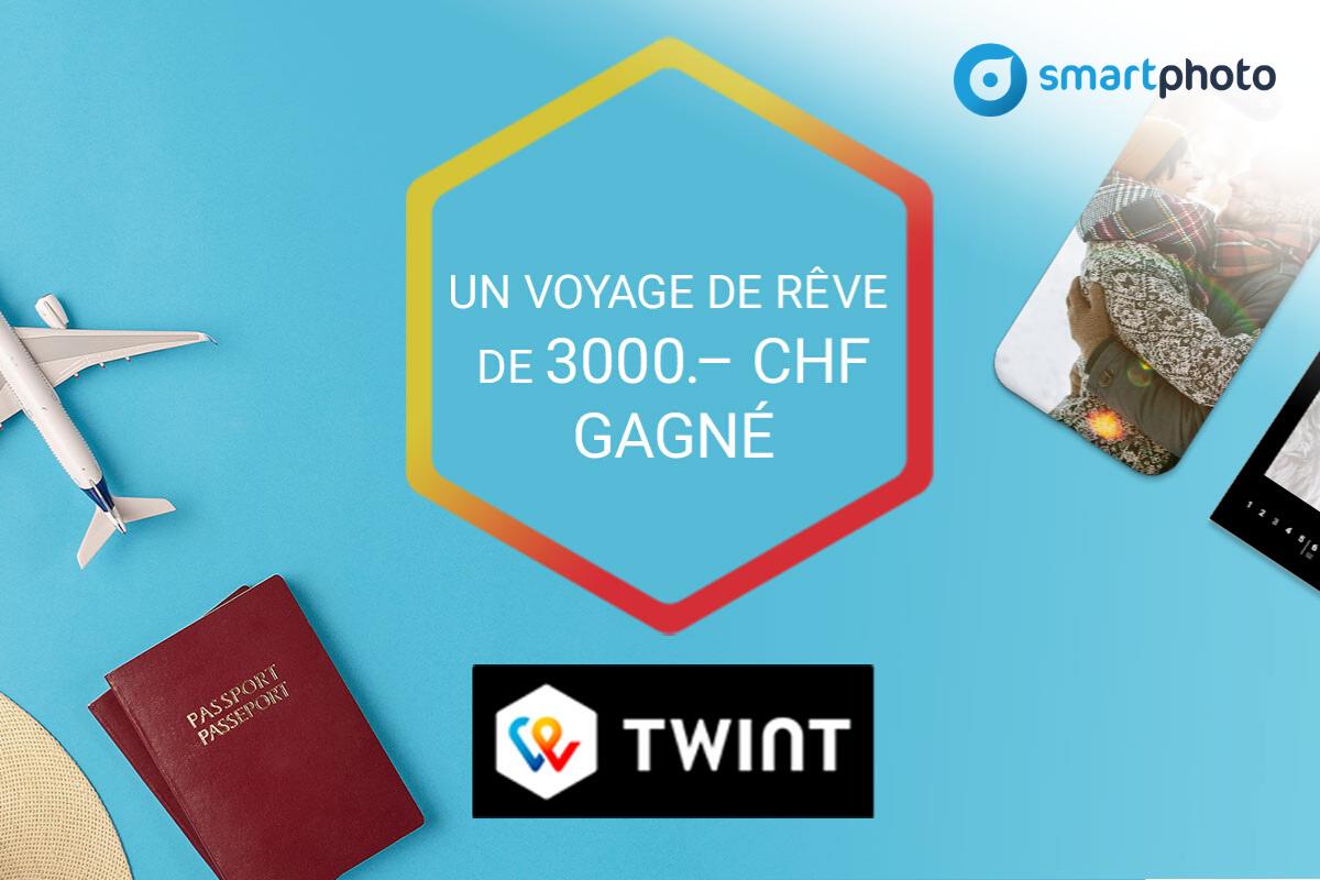 Jeu-concours smartphoto + TWINT: un voyage de rêve remporté