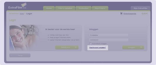 screenshot paswoord vergeten
