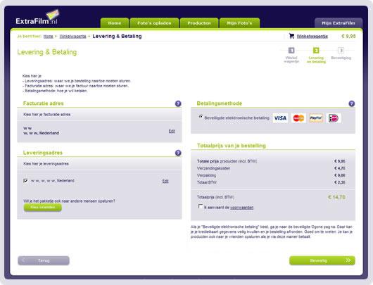 screenshot betaalmogelijkheden
