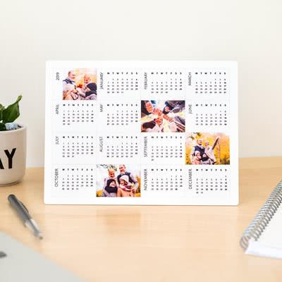 Pöytäkalenteri alumiini