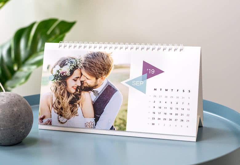 tischkalender 2019 mit eigenem foto erstellen jetzt bei. Black Bedroom Furniture Sets. Home Design Ideas