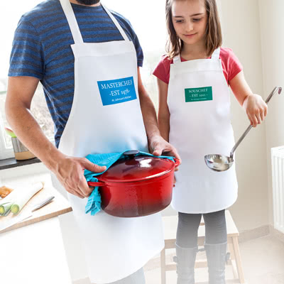 Make Aprons for parent and child