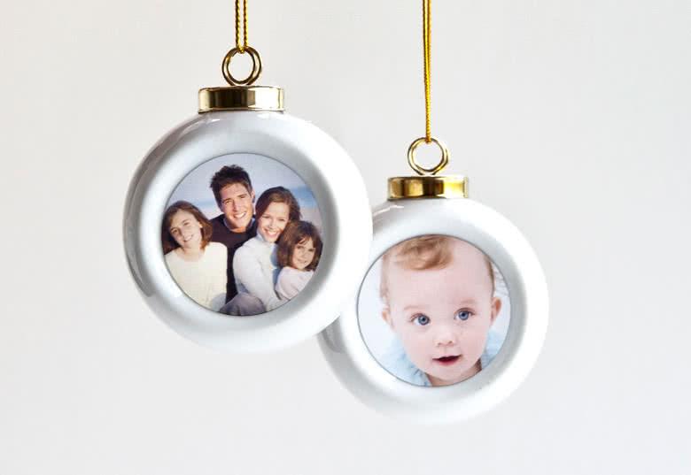 weihnachtskugel mit foto selbst gestalten online bestellen. Black Bedroom Furniture Sets. Home Design Ideas