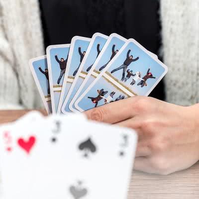 Speelkaarten met gepersonaliseerde achterkant