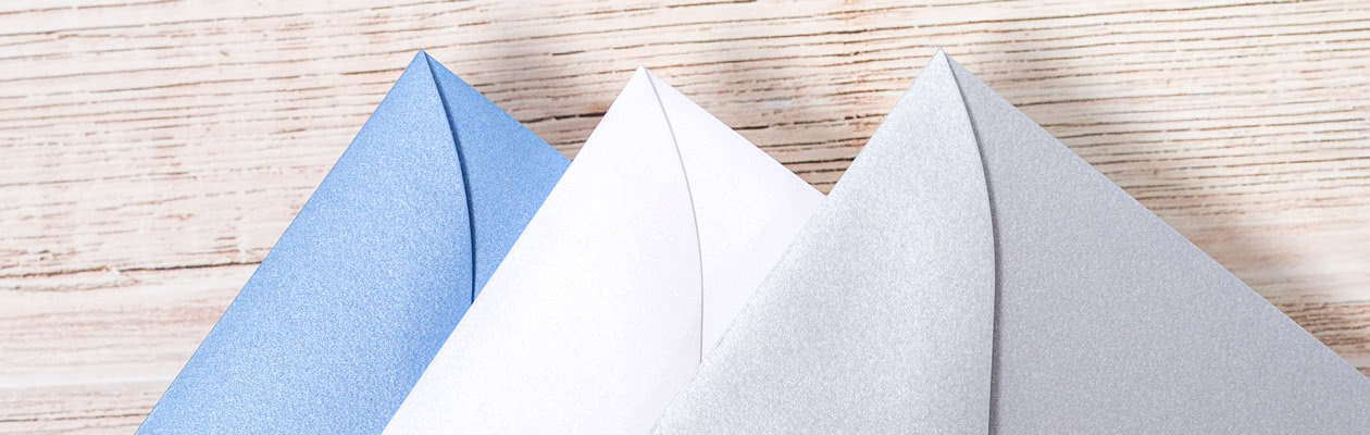 Send your Double Folded Card in a Sparkling envelope to give it extra flair