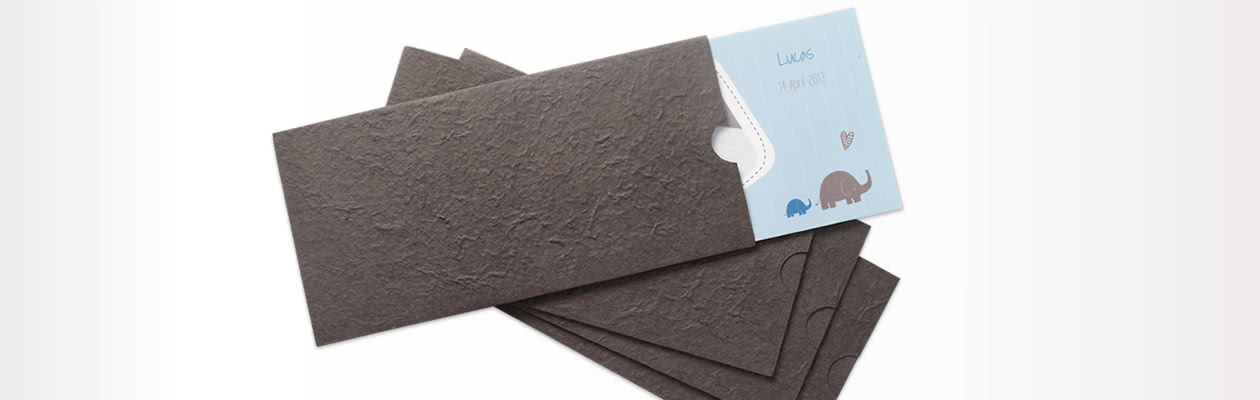 Handmade paper sleeve to add a final touch to your Folded Card Panoramic