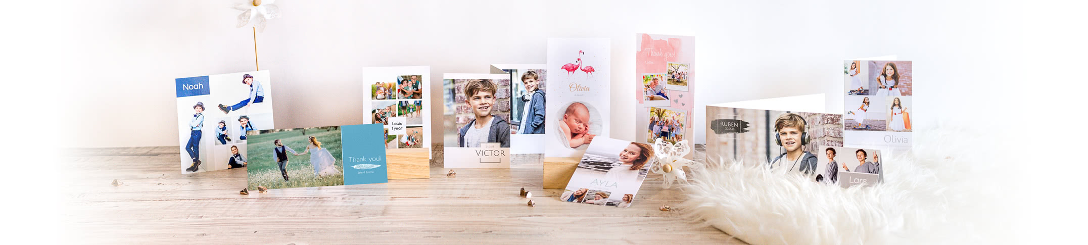 Personalised Photo Cards - No occasion or announcement is too small for a personalised Photo Card!