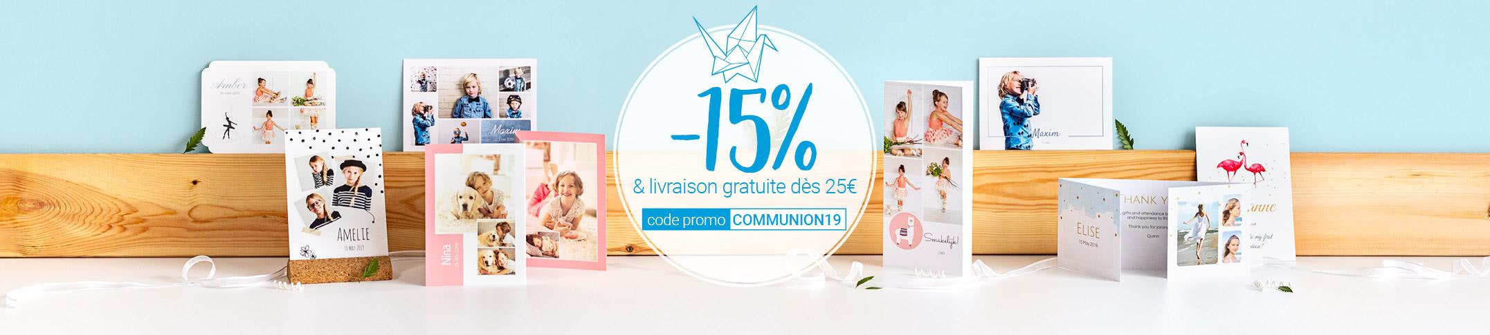 Promotion faire-part communion early bird 2019