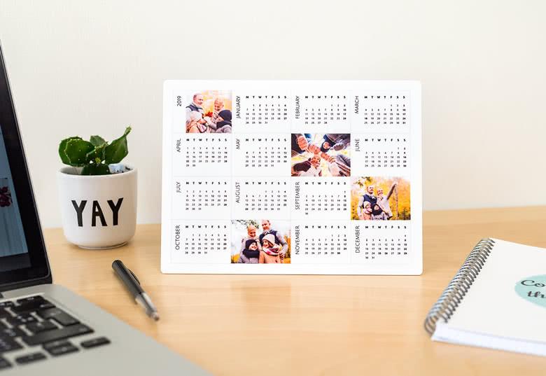 Alu-Schild Kalender