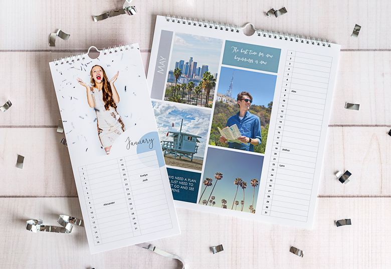 Personalise your Birthday Calendar with your photos