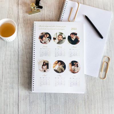 Fotoschrift met jaarkalender A4