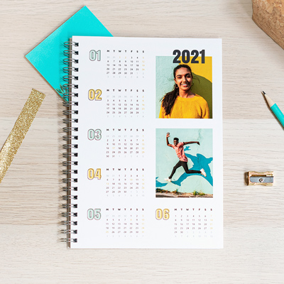 Create a Photo Calendar Notebook