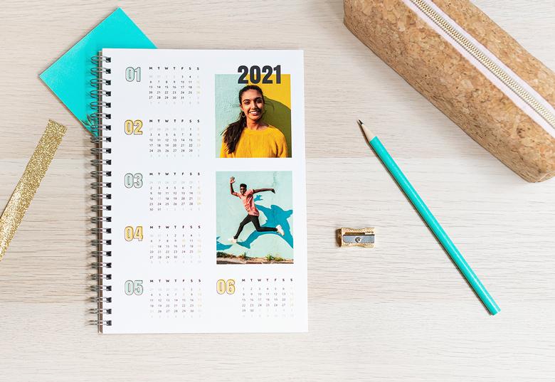 Fotoschrift met kalender