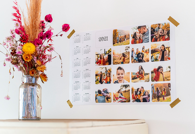 Personalise your Poster calendar