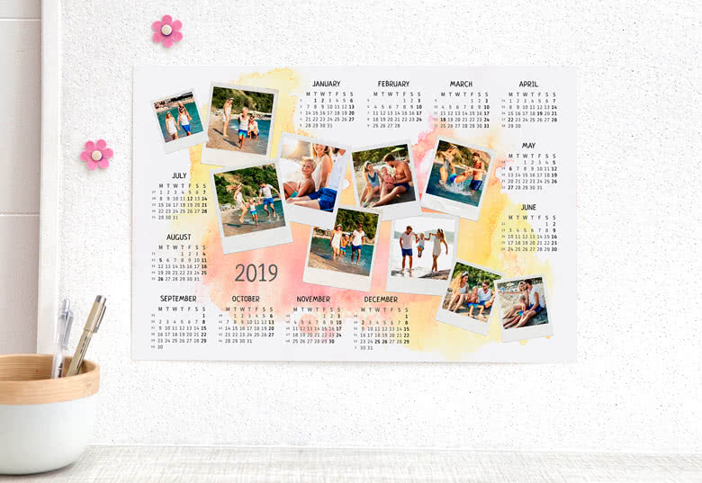 Decorate your Year Planner with your favourite pictures