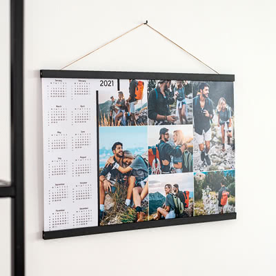 Poster calendar with Magnetic hanger