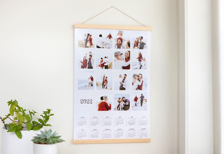 Planning annuel avec support magnétique