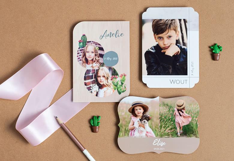 Photo Cards Creative Shape