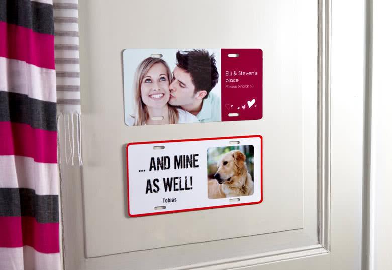 Créez une plaque de porte photo
