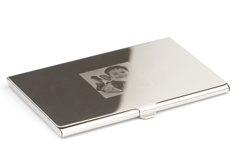High-gloss silver-coloured material