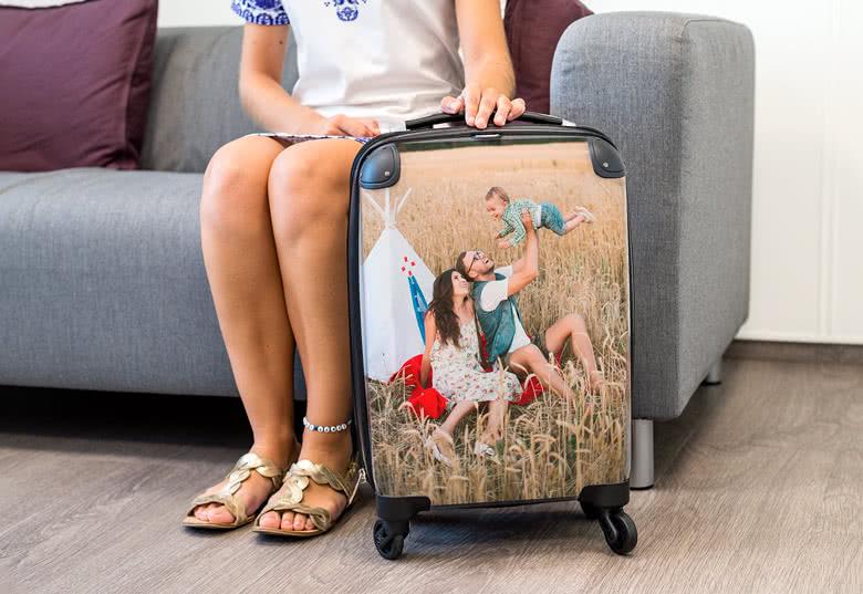 Kabinekuffert med billede