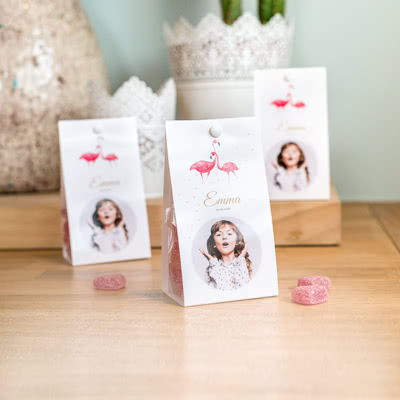 Candy bag with photo-wrapping