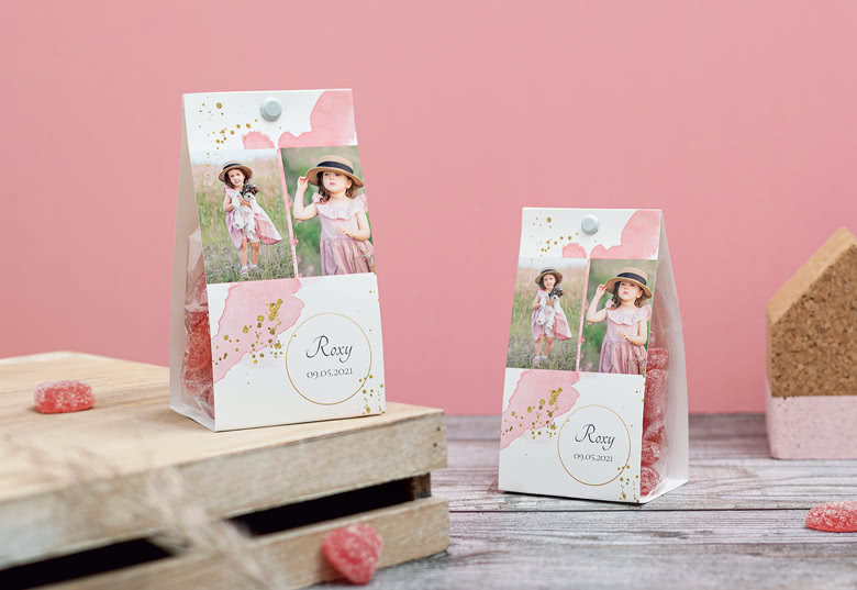 Make a Candy bag with photo-wrapping