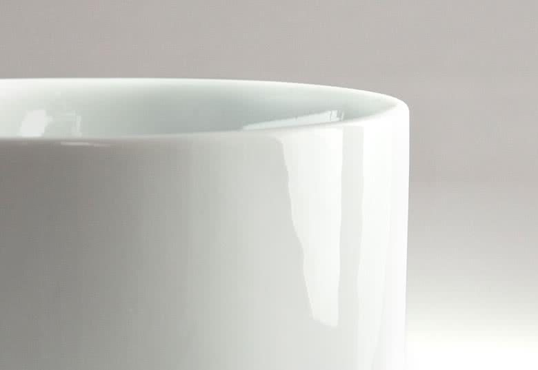 100% céramique blanche