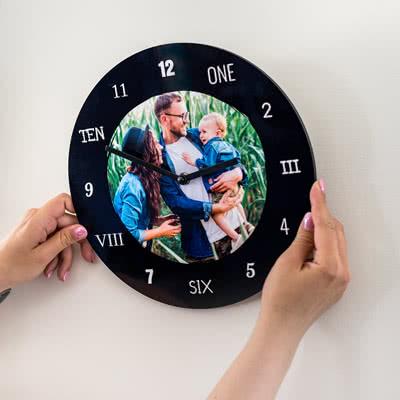 Klok van acrylglas Rond