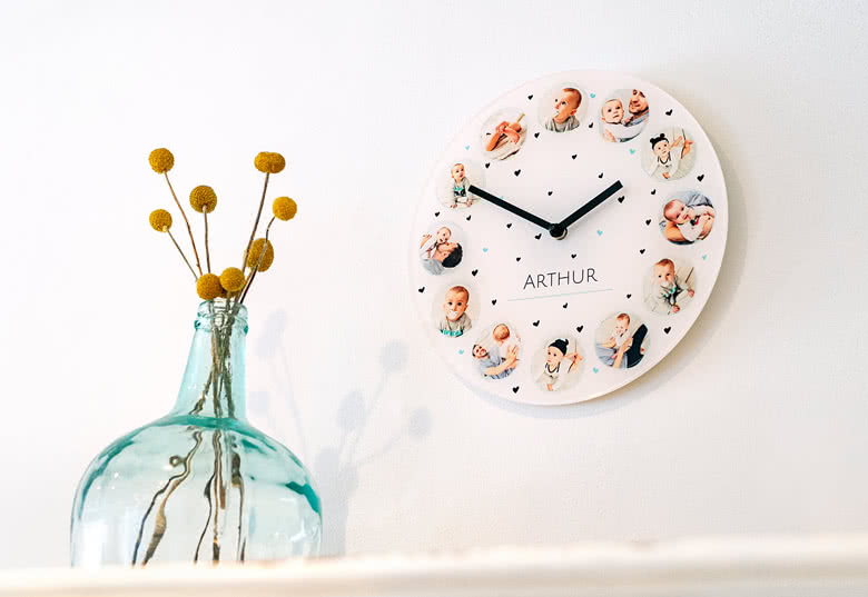 Réalisez une Horloge photo unique et originale