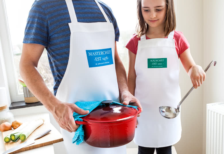 Coloured Apron with photo