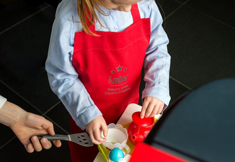 Coloured Kid's Apron with photo