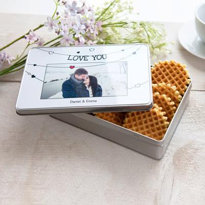 Boîte à biscuits personnalisée