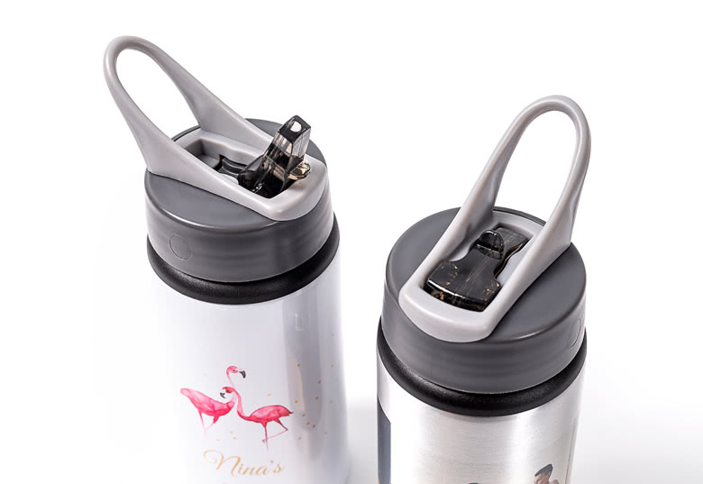 Create your own Reusable Alu Sports Bottle with Flip Top