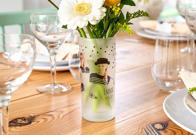 Je crée mon vase verre droit