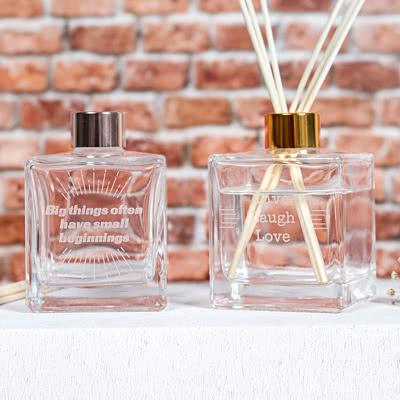 Gegraveerde huisparfum diffuser Groot