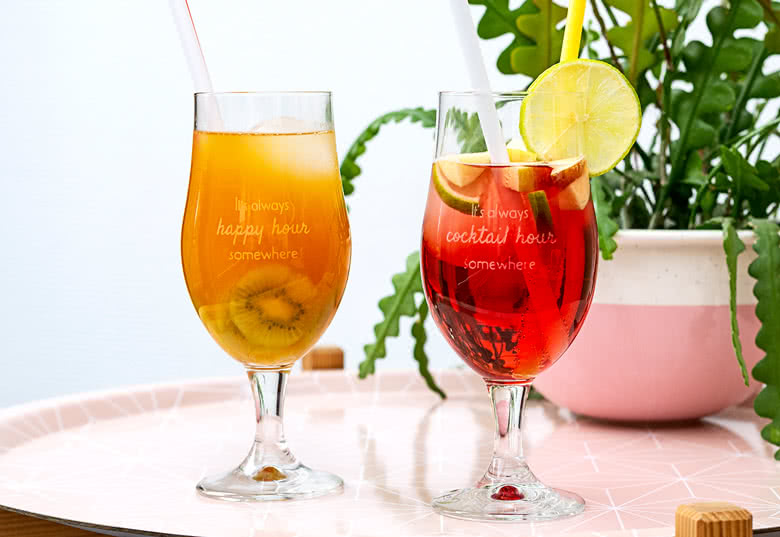 Make Engraved Hurricane Glasses