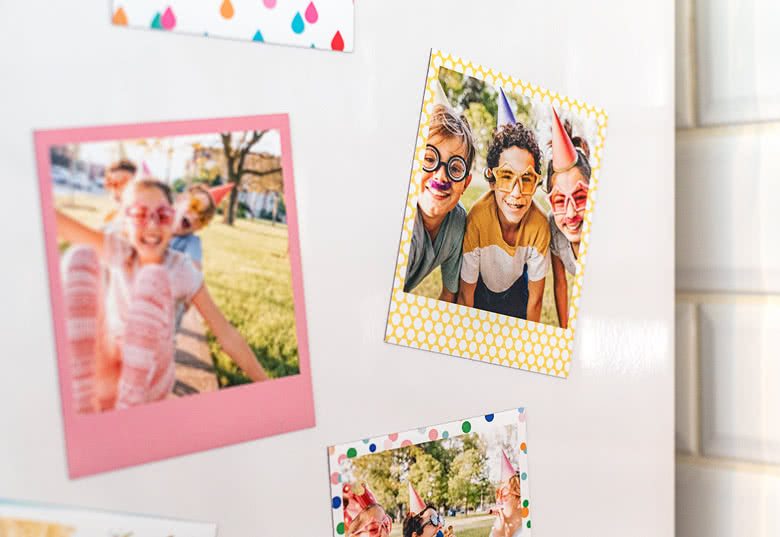Create Retro Photo Magnets