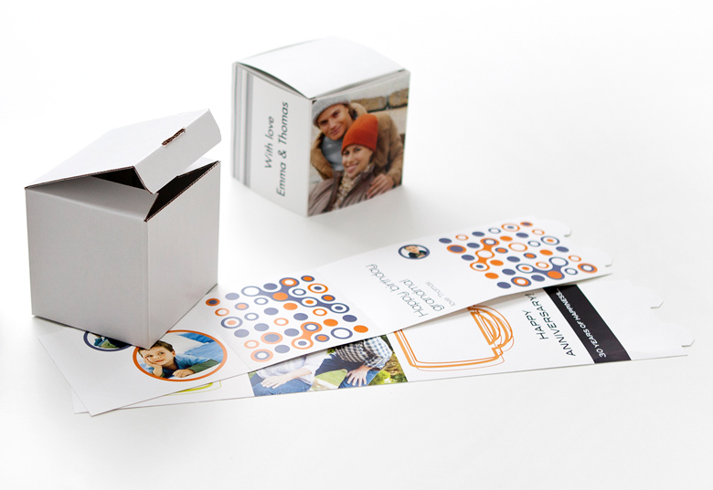 High-quality white cardboard box
