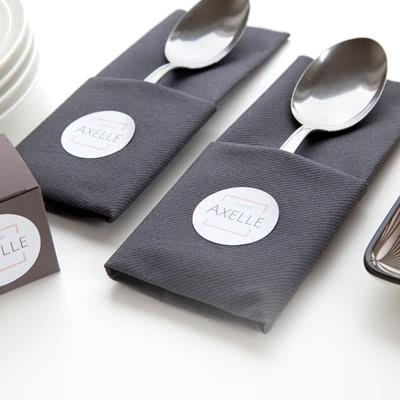 Stickers voor servetten Rond (Set van 24)