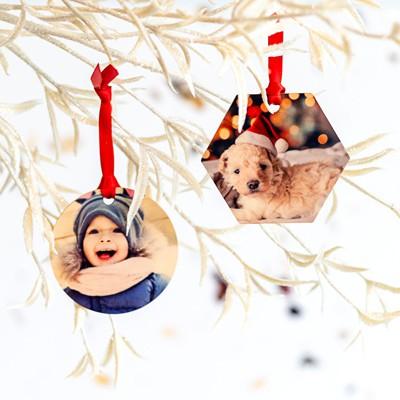 Joulukuusen koristeet puuta