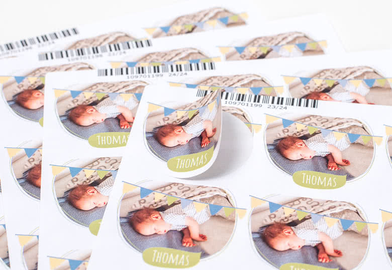Self-adhesive paper stickers