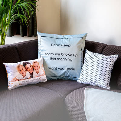 Pillow with photo on front and back